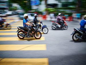 Accidente en moto los angeles